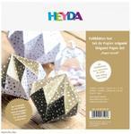 List Origami 40ks  (20x20cm a 15x15cm) - zlatý