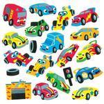 Pěnové samolepky - Závodní auta, 120ks