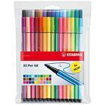 Stabilo Pen 6830-1  Sada 30 ks, 24 barev + 6 neonových, v plastu