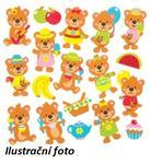 Pěnové samolepky - Medvědí piknik, 120ks