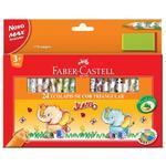 """Faber-Castell Pastelky trojhranné Eco JUMBO - 24 ks + ořezávátko i pro """"L"""""""