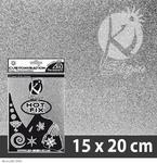 Nažehlovací fólie HOT FIX 15x20 cm glitrová - stříbrná