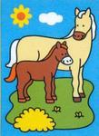 Obrázek pro pískování  23x33 cm - Kůň s hříbětem