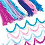 Chlupaté drátky - zimní barvy, 120ks