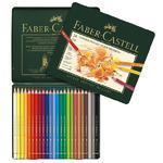 Faber-Castell Pastelky Polychromos - 24 ks plechová krabička