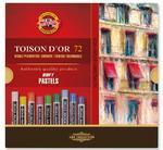 Křídy prašné umělecké Toison D´Or - kulaté 72 ks