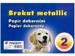 Dekorační papír Brokat Metallic 02