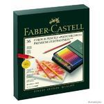 Faber-Castell Pastelky Polychromos - Atelier box 36 ks