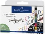 "Faber-Castell Popisovač Artist Pen ""Caligraphy"" - sada 8ks"