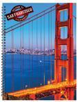 Spirálový blok A4 - 50 listů, čtvereček  San Francisco