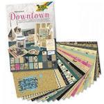 Blok dekoračních papírů 270 g/m2, 20 listů - DOWNTOWN