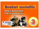 Dekorační papír Brokat Metallic 03