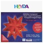 Origami papír transparentní 20x20cm - červená, 30ks