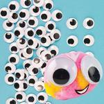 Samolepící očička Maxi - černobílá, 100 ks