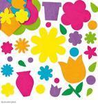 Filcové samolepky - Květinová zahrada, 200 ks
