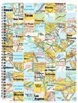 Spirálový blok A4 - 50 listů, čtvereček  Mapa