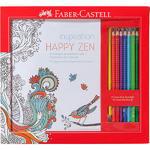 Faber-Castell Sada Happy Zen 8 pastelek Grip + kniha