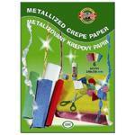Krepový papír metalický - souprava 6ks