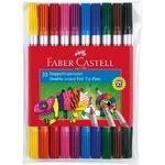 Faber-Castell  Dvojité popisovače v etui, 10ks