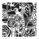 """Šablona TCW 12""""x 12"""" , Wild Roses"""