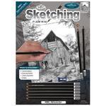 Royal & Langnickel Sketching Made Easy - Skicovací sada, 9 ks - Stará stodola