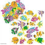 Pěnové samolepky - Rybičky, 100 ks