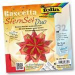 Folia Origami Hvězda Bascetta - zlatočervená, 32 archů 15x15 cm