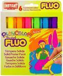 PlayColor - Tuhé temperové barvy Fluorescentní, 6ks