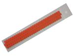 Proužky na Quilling na lístečkové kytičky - tmavě oranžové