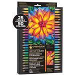 Chameleon Oboustranné pastelky - sada 25ks/50 odstínů