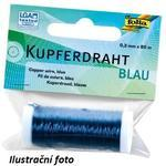Měděný drát - modrý, průměr 0,3 mm, délka 80 m