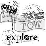"Šablona TCW 12""x 12"" Winged Exploration"