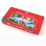 Faber-Castell Pastelky v plechové krabičce - 60 ks