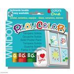 PlayColor  Tuhé temperové barvy na sklo, 6 ks