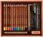 Koh-i-noor Trio Kreslířská sada akvarelová v dřevěné kazetě