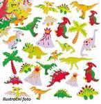 Pěnové samolepky - Dinosauři, 102 ks