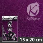 Nažehlovací fólie Hot-fix 15x20cm glitrová - fialová
