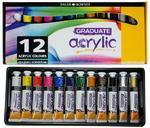 Daler & Rowney Graduate Acrylic - sada 12x22 ml