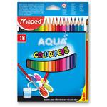 Maped Color´Peps Aqua Pastelky trojhranné Aqua 18 ks + štětec i pro L