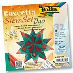Folia Origami Hvězda Bascetta - zelenočervená, 32 archů 15x15 cm