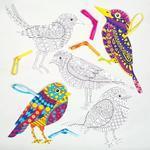 Antistresové omalovánky - Ptáčci - 8 ks