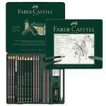 Faber-Castell Sada PITT Graphite Medium - 19 ks v kovové dóze