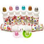 Scola Chubbie Paint Marker  Sada vodových barev - 8 perleťových barev v tubách po 75 ml