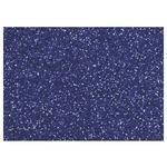 Moosgumi s glitry 20x30 cm, 2 mm - modrá tmavá