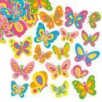 Pěnové samolepky - Letní motýlci, 102 ks