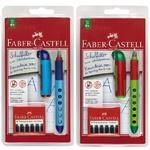 """Faber-Castell Školní plnicí pero - """"L"""" - MODRÉ, ORANŽOVÉ A RŮŽOVÉ"""