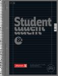 Student blok A4 CC, linka 80 listů spirála - černý