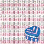 Samolepící kamínky růžové a stříbrné, čtverečky 5 mm - 480 ks