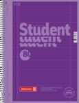 Student blok A4 CC, linka 80 listů spirála - fialový