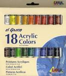 Sada barev Akrylic Colors el GRECO - 18x12 ml